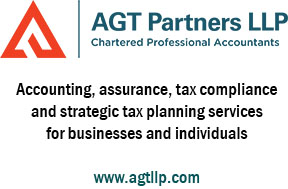 "Logo for AGT Accounting + text"" Accounting, assurance, tax compliance, and strategic tax planning services for businesses and individuals"" and website www.agtllp.com"